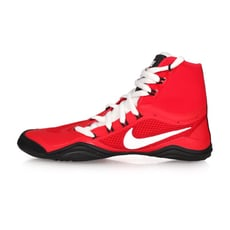 NIKE HYPERSWEEP 限量-男角力鞋-競技 摔角 高筒 紅白黑