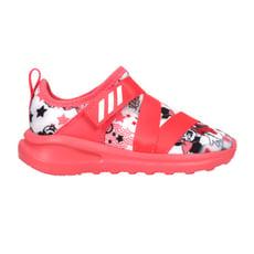 ADIDAS FORTARUN X MINNIE I女小童休閒運動鞋-迪士尼 愛迪達 珊瑚紅白黑