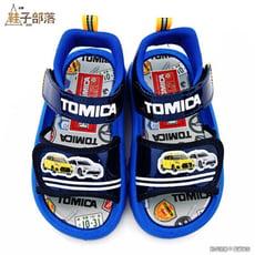【鞋子部落】小汽車雙魔鬼氈涼鞋 Tomica多美汽車 TM3637-藍
