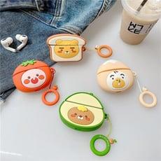 可愛造型 韓國卡通1/2代 & AirPods Pro適用 蘋果無線藍牙耳機套 矽膠保護套
