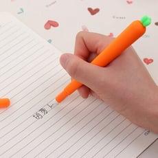 精品文具 創意胡蘿蔔筆 可愛黑色中性筆 文具 韓國初中生個性中性筆 超萌學生中性筆  禮物學生創意可
