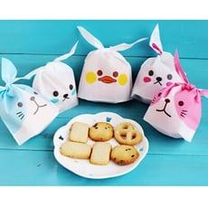 超激萌-新款可愛 兔耳朵 包裝袋 / 糖果餅乾袋 / 小點心袋 / 手作 / 烘焙 / 50入1包