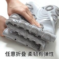 2020新款腳底按摩環保 PVC 圓形浴室防滑地墊家用淋浴間吸盤疏水按摩清潔腳底板(限宅配)