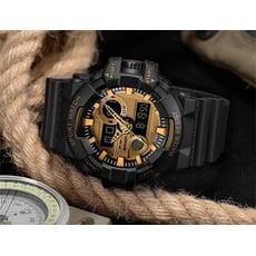 SANDA 軍事風格大錶盤多功能運動防水時尚潮流夜光雙顯手錶 學生手錶 青少年手錶
