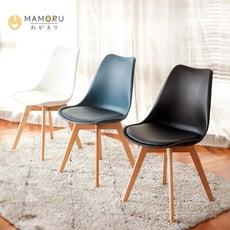 北歐風鬱金香實木餐椅 三色可選(書桌椅/造型椅/辦公椅)