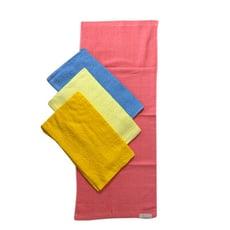 臻品-素色織直條紋毛巾(打裝)