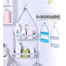 多功能浴室廚房收納雙層掛籃