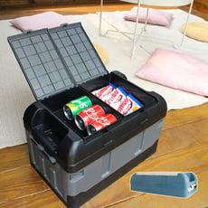 【LIGFE立格扉】加高分格配色摺疊露營收納箱/野餐箱/收納箱
