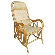 【MSL】五福雙護腰休閒藤椅(本色加高型)