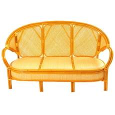 【MSL】麗寶藤皮三人坐藤椅/客廳沙發椅(本色)