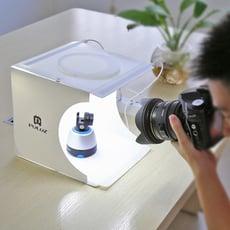 20CM便攜式雙LED攝影棚 送6色背景布