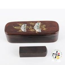雞翅木雕印章盒組