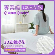 100%極度防水床包式保潔墊護理級防尿墊(雙人標準5尺)