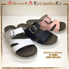 ROOSTER公雞 流線條休閒拖鞋精緻手工鞋拖鞋女生拖鞋 A2367