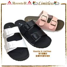 ROOSTER公雞 基本款二條式扣帶休閒拖鞋精緻手工鞋拖鞋女生拖鞋 A2352