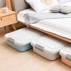 【+O 家窩】萊納床下掀蓋滑輪整理箱58L-3入組-DIY