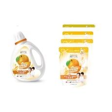 橘子工坊 天然濃縮洗衣精(1瓶)+補充包(4包) 制菌配方