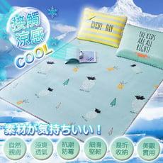 【DTW】酷夏涼感冰絲蓆(附枕套)-單人/雙人/雙人加大 均一價