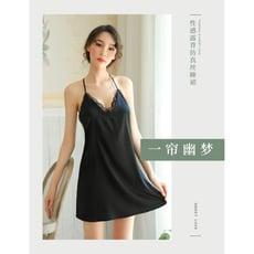 深v露乳仿 真絲性感睡衣裙 透視睡衣 激情套裝用品7838
