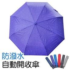 條紋防潑水自動開收傘