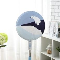 防塵罩 風扇罩印花韓式落地電扇罩子搖頭電風扇防塵罩圓形通用電暖扇罩子