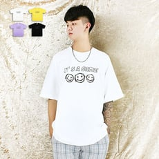 短T-寬版七彩笑臉短T-俏皮笑臉設計款 《00112805》共4色『RFD』