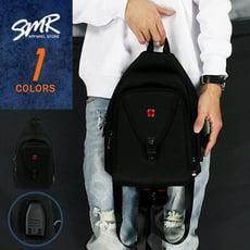 『SMR』2用胸包USB孔十字-百搭實用款-黑色《7925379》