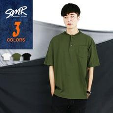 『SMR』三扣落肩簡約短T-百搭素面款-3色任選《00101501》