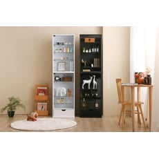 台灣製多功能  展示櫃 公仔櫃 玩具收納櫃 玻璃櫃 -(兩色)