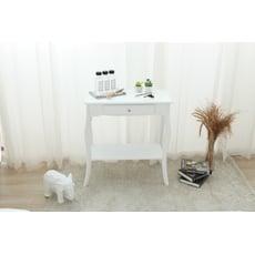 歐式 Pablo經典長方形玄關桌/邊桌-兩色(純白色)