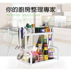 多功能雙層廚房整理收納置物架