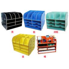 韓版創意桌面木質收納盒家庭收納用品辦公室檔架資料整理盒1270