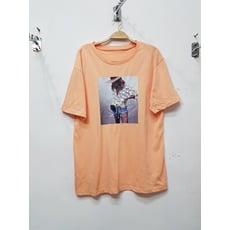韓國設計款立體亮鑽釘珠亮片裝飾相片T棉T短袖上衣  CNTOP