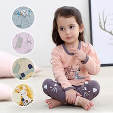 【2套入】童裝兒童純棉內衣睡褲居家服套裝-HP7003