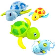 【3隻入】兒童戲水玩具 浴室洗澡小烏龜發條玩具-SJ9803