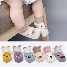 【六雙入】童襪短襪 卡通防滑地板襪 兒童船襪-HC8723