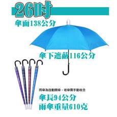 【雙成和】138公分大傘面12骨不滴水外銷日本傘套組合傘