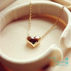 【Hera 赫拉】經典愛心項鍊 女韓國短款時尚 鍍14K金項鍊女短款 鎖骨鏈 心