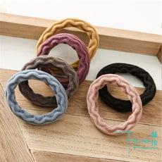 【Hera 赫拉】韓版純色提花毛巾無縫髮圈(隨機4色/入)