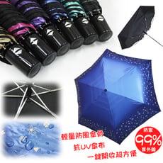 超輕量不透光自動晴雨傘(星空草原)