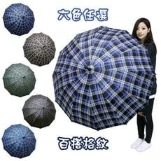 經典大傘面格紋自動直傘