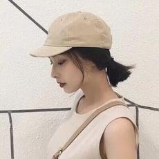 6色短帽簷百搭老帽軟帽棒球帽鴨舌帽子