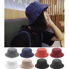 爸爸帽工裝風復古日系水洗布漁夫帽盆帽遮陽帽釣漁帽子8色