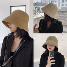 日系男女簡約漁夫帽遮陽帽原宿風休閒百搭復古盆帽子