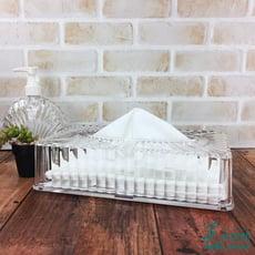 【美的空間】透明水晶壓克力 貝殼紋抽取式面紙盒