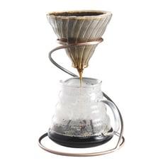 咖啡手沖組 V型濾杯+600ml雲朵壺+螺旋濾杯支架+350ml手沖壺 (2~4人份套組)