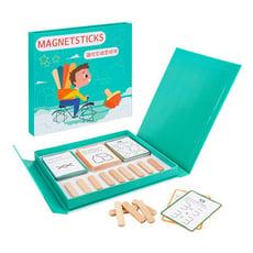 木製磁性雪糕棒IQ拼圖(益智圖卡過關解答)(書本式收納)【888便利購】