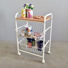 MIT雙籃萬用廚房推車收納架