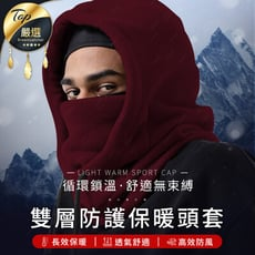 【雙層禦寒】多功能防風保暖頭套
