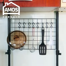 【Amos】台灣製50*35頂天立地網片置物架